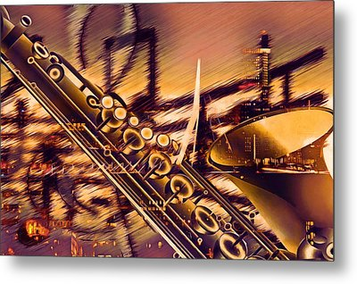 Sensual Sax Metal Print by Georgiana Romanovna