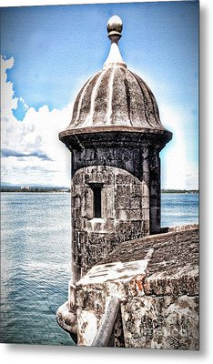 Sentry Box In El Morro Hdr Metal Print