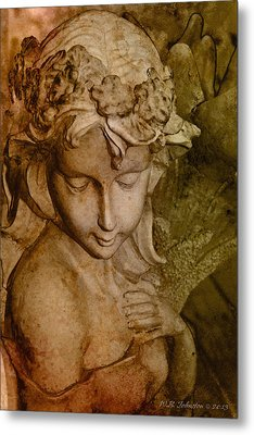 Sepia Angel Metal Print