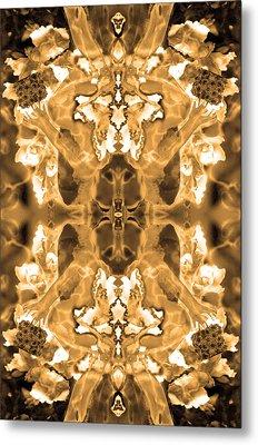 Sepia Bag Fairies 1 Metal Print