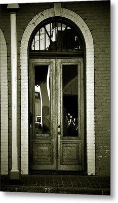 Sepia Door Metal Print by Cherie Haines