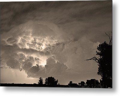 Sepia Light Show Metal Print by James BO  Insogna