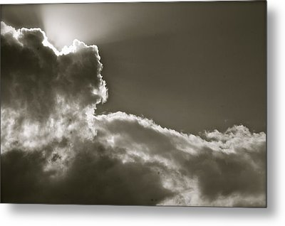 Metal Print featuring the photograph Sepia Sun Ray by Lennie Green