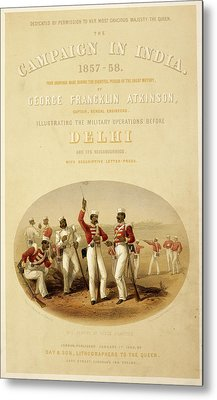 Sepoys At Rifle Practice Metal Print by British Library
