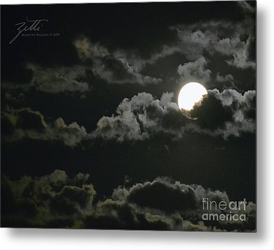 September Moon Metal Print