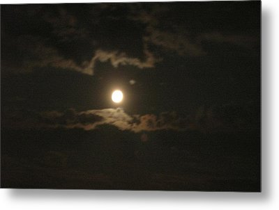 Metal Print featuring the photograph September Moonlight by Emmy Marie Vickers