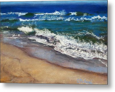 Metal Print featuring the painting September On Nantucket by Cindy Plutnicki