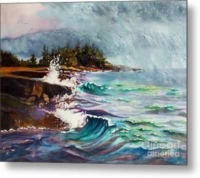 September Storm Lake Superior Metal Print