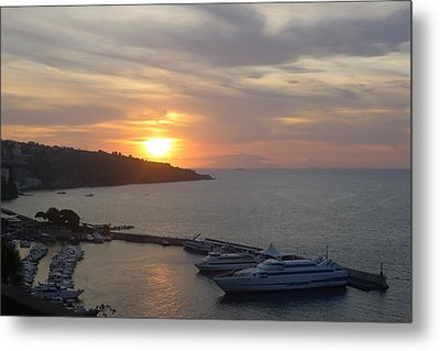 September Sunset In Sorrento Metal Print by Nora Boghossian