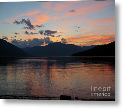 September Sunset Metal Print by Leone Lund