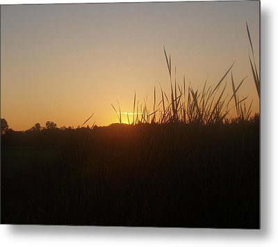Metal Print featuring the photograph September Sunset by Teresa Schomig