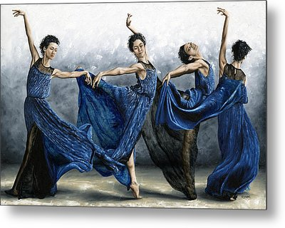 Sequential Dancer Metal Print