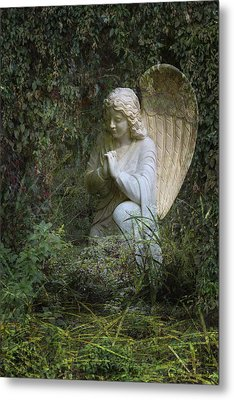 Seraphim Angel Garden Metal Print by Ella Kaye Dickey
