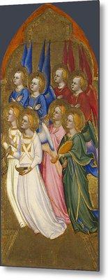 Seraphim Cherubim And Adoring Angels Metal Print by Jacopo di Cione and Workshop
