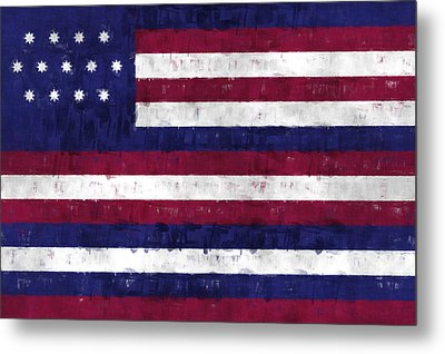 Serapis Flag Metal Print by World Art Prints And Designs