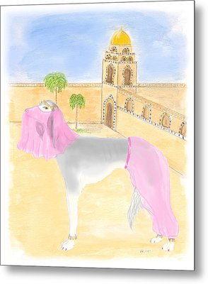 Metal Print featuring the painting Serena All Set For Arabian Nights by Stephanie Grant