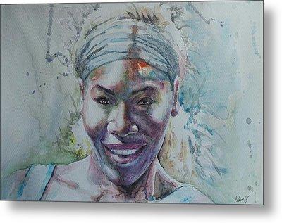 Serena Williams - Portrait 1 Metal Print