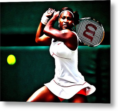 Serena Williams 3a Metal Print by Brian Reaves