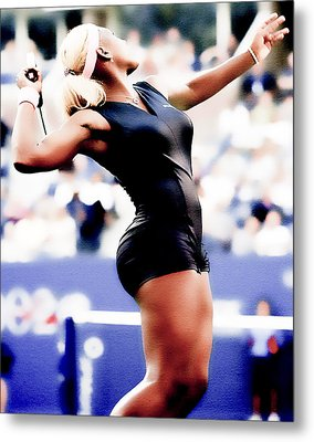 Serena Williams Catsuit Metal Print