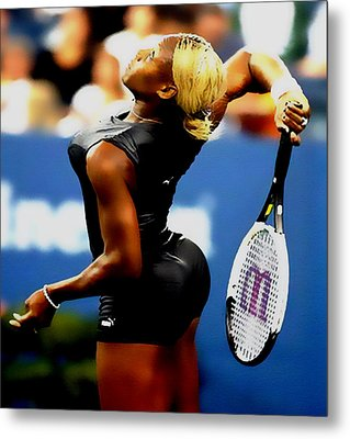 Serena Williams Catsuit II Metal Print by Brian Reaves