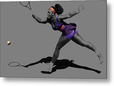 Serena Williams Getting It Done Metal Print