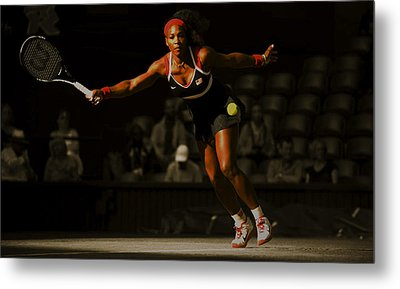 Serena Williams Grace Metal Print by Brian Reaves