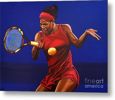 Serena Williams Painting Metal Print by Paul Meijering
