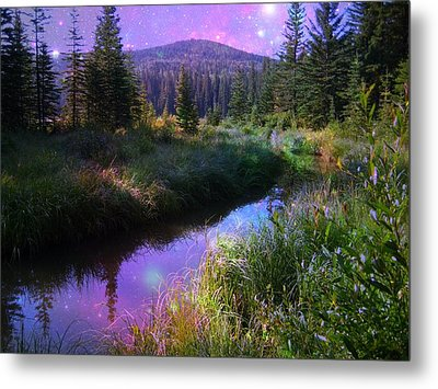 Serene Mountain Moment Metal Print