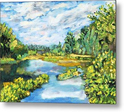 Serene Pond Metal Print by Michael Daniels