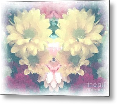 Metal Print featuring the photograph Serene Zinnias by Luther Fine Art