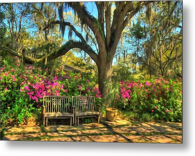 Metal Print featuring the photograph Serenity Bench by Ed Roberts