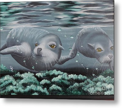 Metal Print featuring the painting Serenity by Dianna Lewis