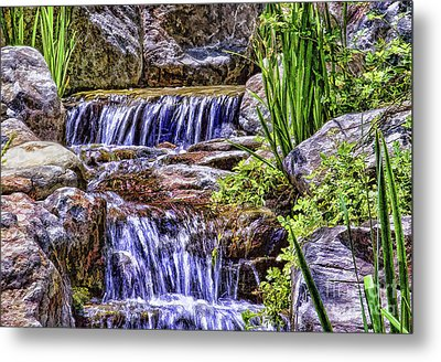 Serenity Falls Metal Print by Nancy Marie Ricketts
