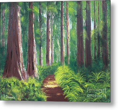 Serenity Forest Metal Print by Bev Conover