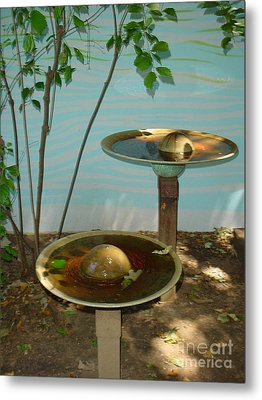 Metal Print featuring the photograph Serenity  Fountain by Lyric Lucas