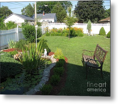 Metal Print featuring the photograph Serenity Gardens by Margaret Newcomb