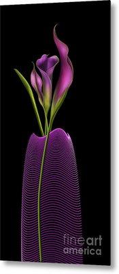 Serenity In Purple Metal Print