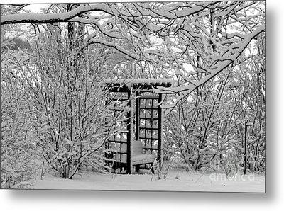 Serenity In Snow Metal Print