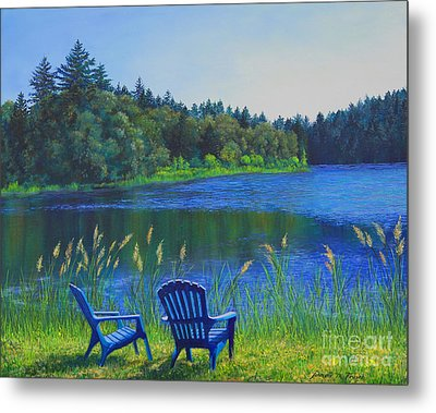Metal Print featuring the painting Serenity by Jeanette French