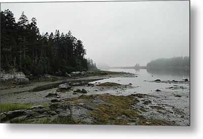 Serenity On A Foggy Afternoon In Maine Metal Print