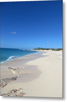 Serenity On Grand Turk Metal Print by Jean Marie Maggi