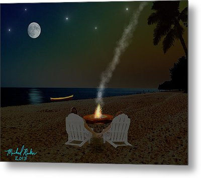 Serenity On The Beach Metal Print by Michael Rucker