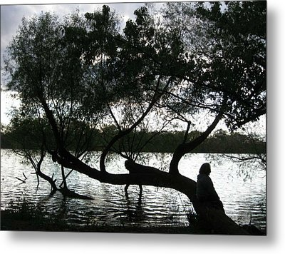 Metal Print featuring the photograph Serenity On The River by Digital Art Cafe