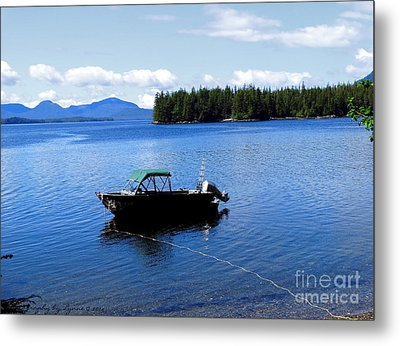 Serenity Outside Of Ketchikan Ak Metal Print by Gena Weiser
