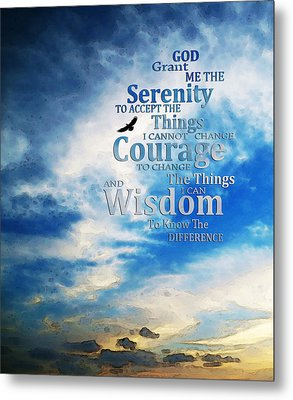 Serenity Prayer 3 - By Sharon Cummings Metal Print