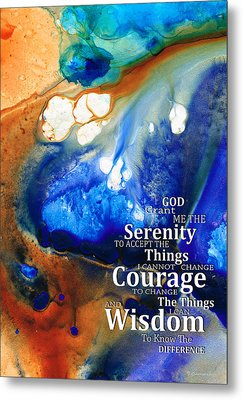 Serenity Prayer 4 - By Sharon Cummings Metal Print by Sharon Cummings