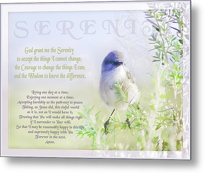Serenity Prayer Metal Print by Holly Kempe