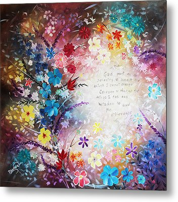 Metal Print featuring the painting Serenity Prayer by Patricia Lintner