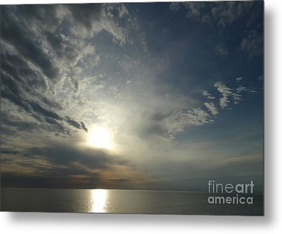 Serenity Sunset Metal Print by Joseph Baril