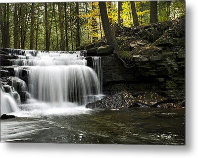 Serenity Waterfalls Landscape Metal Print by Christina Rollo